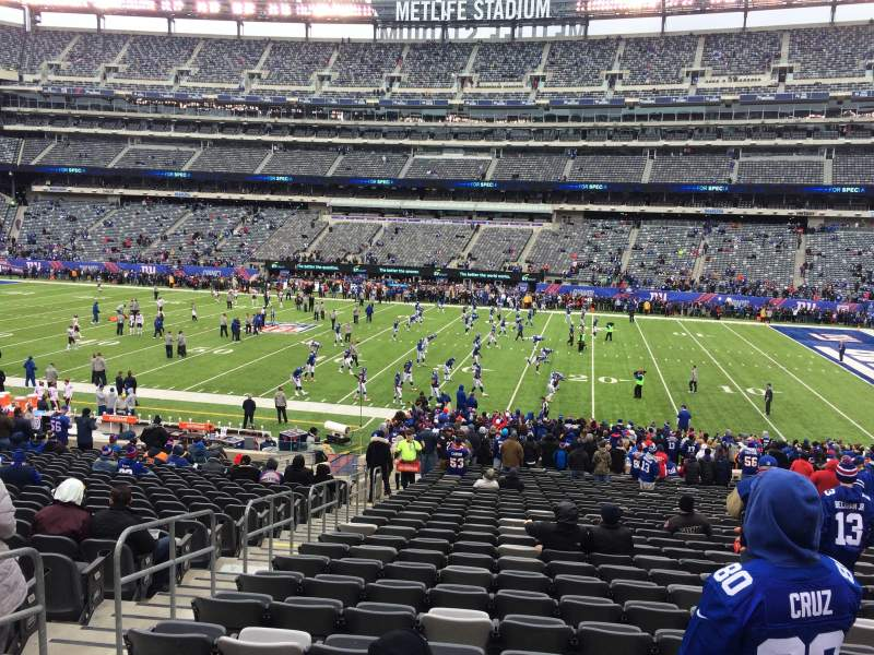 Seating view for MetLife Stadium Section 135 Row 30 Seat 29