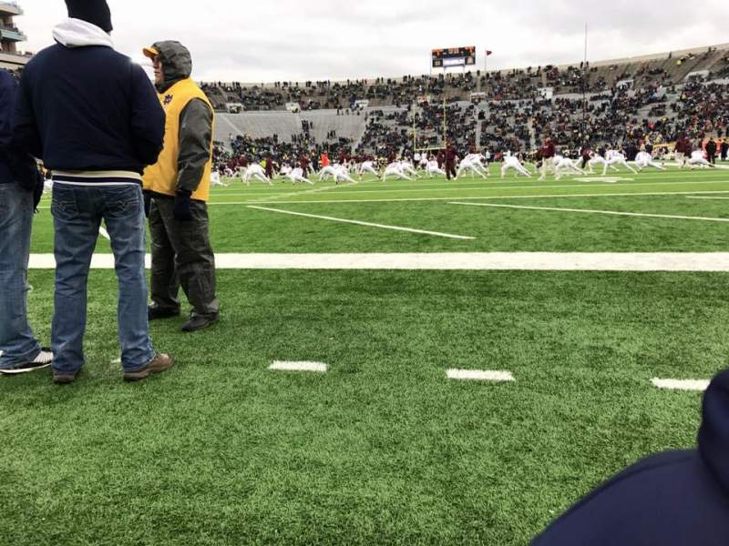 Seating view for Notre Dame Stadium Section 17 Row B Seat 2