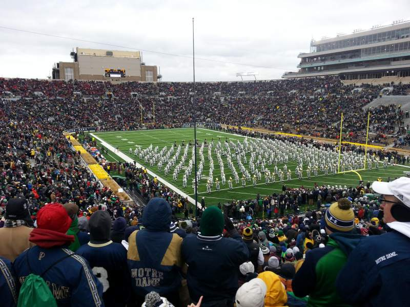 Seating view for Notre Dame Stadium Section 3 Row 56 Seat 32
