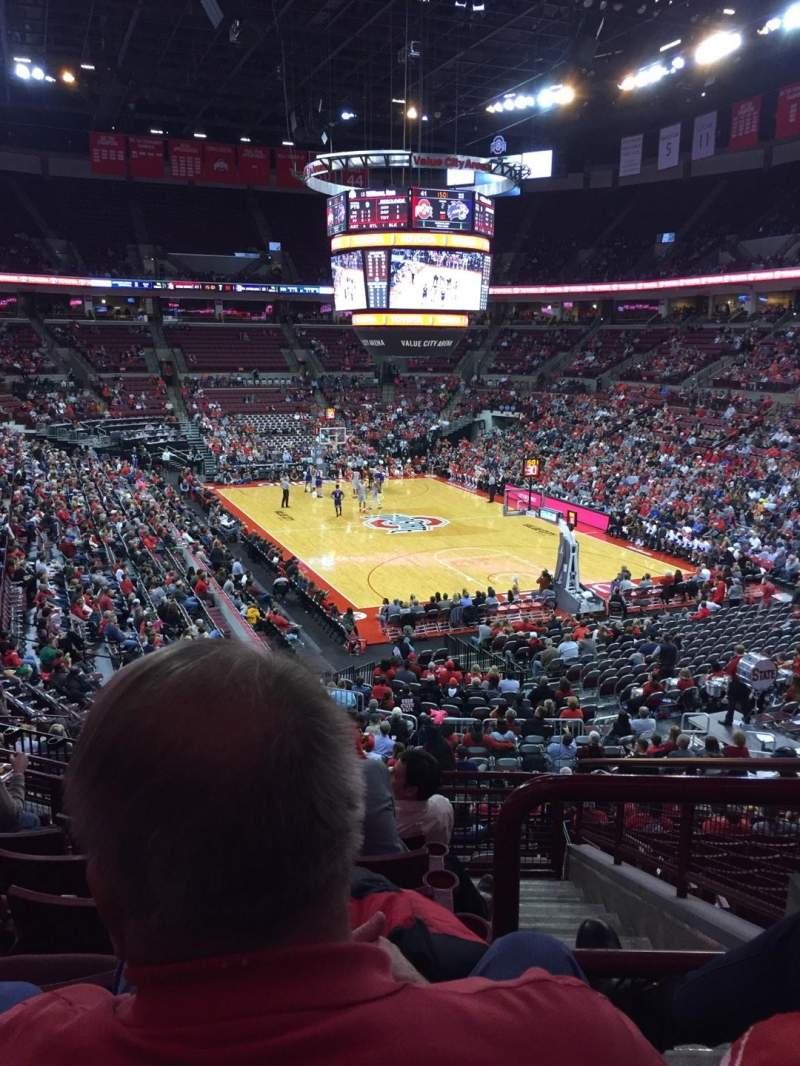 Seating view for Value City Arena Section 217 Row G Seat 3