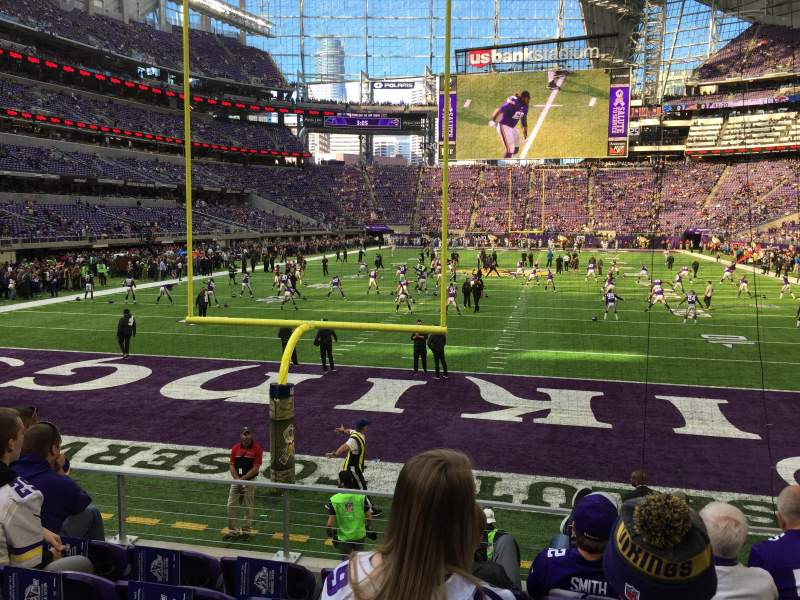 Seating view for U.S. Bank Stadium Section 119 Row 8 Seat 11