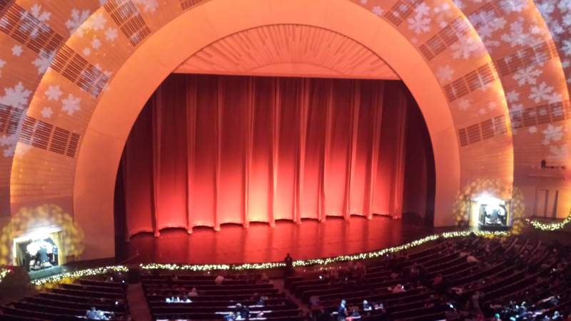 Seating view for Radio City Music Hall Section 2nd Mezzanine 6 Row A Seat 606
