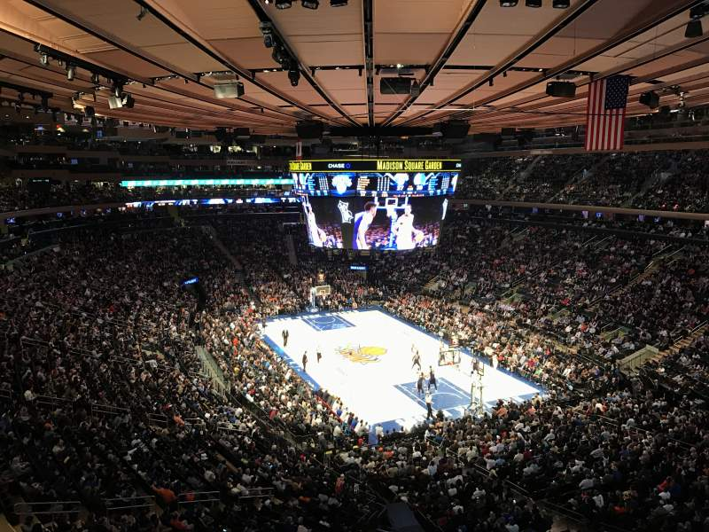 Seating view for Madison Square Garden Section 414 Row 1 Seat 13