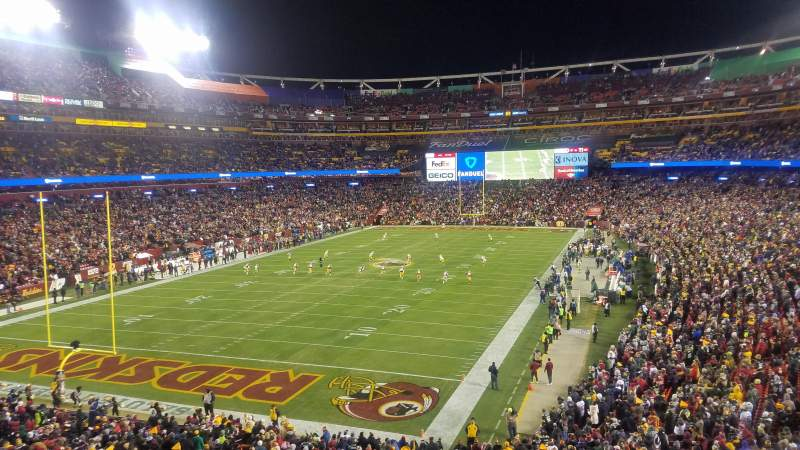 Seating view for FedEx Field Section 329 Row 2 Seat 15
