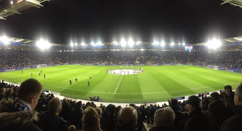 Seating view for King Power Stadium Section J2 Row X Seat 232