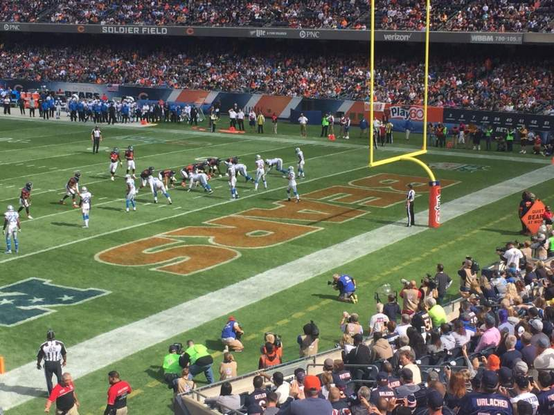 Seating view for Soldier Field Section 228 Row 3 Seat 9