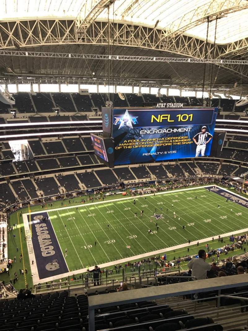 Seating view for AT&T Stadium Section 447 Row 27 Seat 5