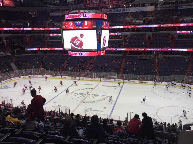 Seating view for Verizon Center Section 201 Row L Seat 14