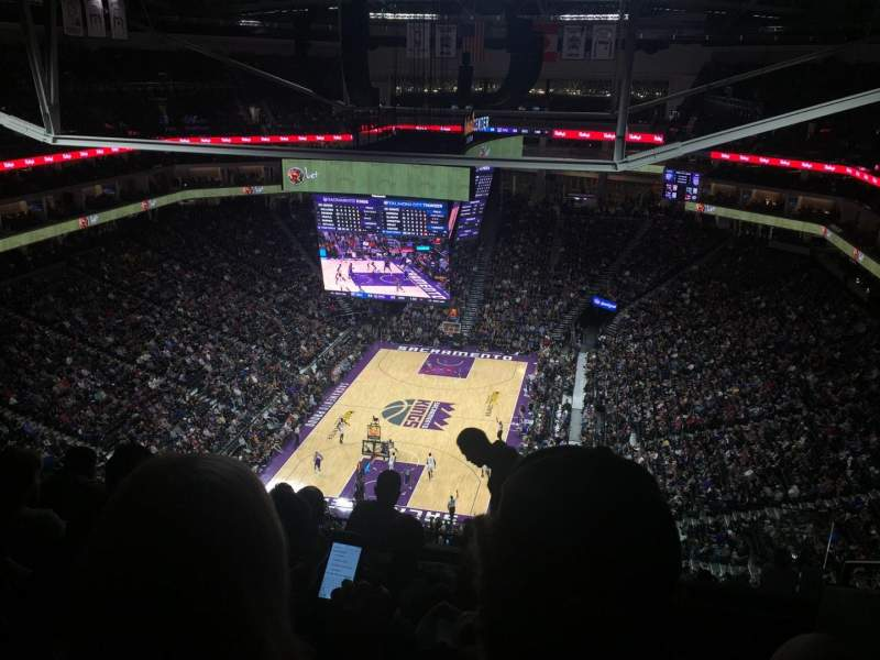 Seating view for Golden 1 Center Section 211 Row P Seat 1,2,3,4