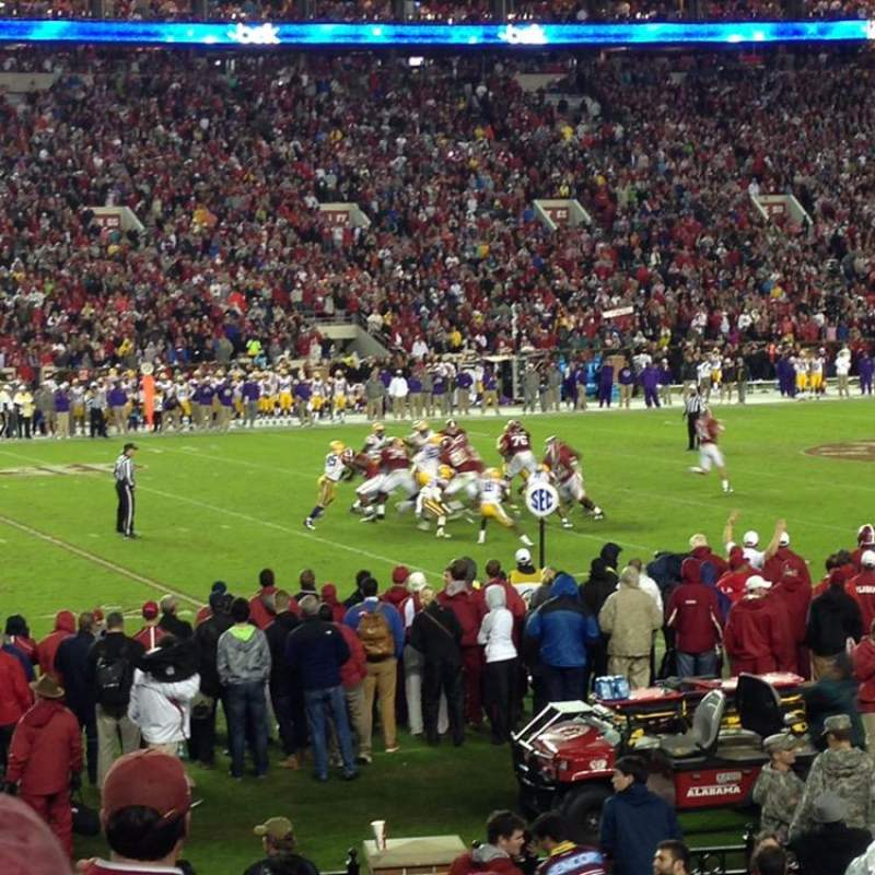 Seating view for Bryant-Denny Stadium Section K Row 16 Seat 24