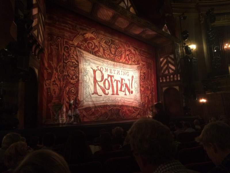 Seating view for St. James Theatre Section Orch Row J Seat 19