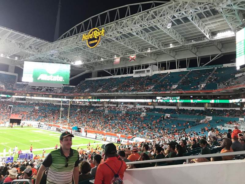 Seating view for Hard rock stadium Section 116 Row 40 Seat 3