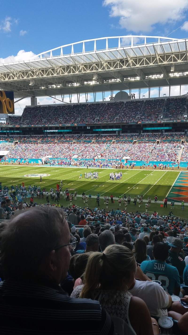 Seating view for Hard Rock Stadium Section 242