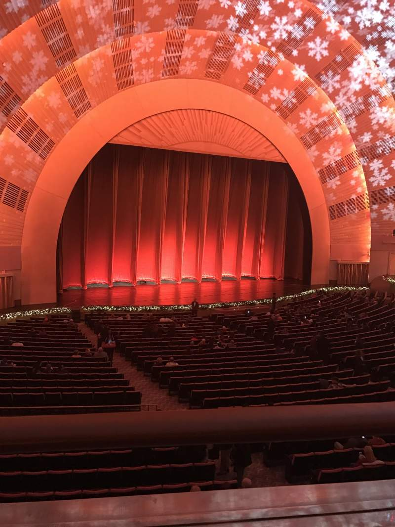 Seating view for Radio City Music Hall Section 1st mezzanine 6 Row A Seat 611