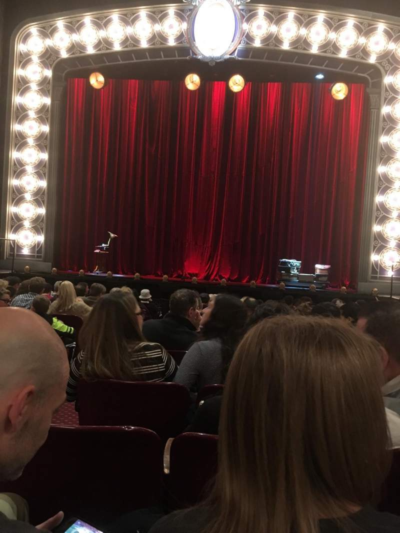 Seating view for Palace Theatre (Broadway) Section Orchestra Row M Seat 104