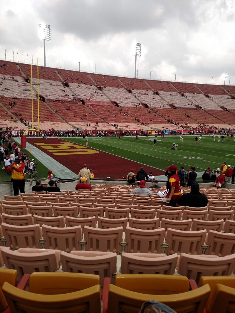 Seating view for Los Angeles Memorial Coliseum Section 110B Row 17 Seat 7