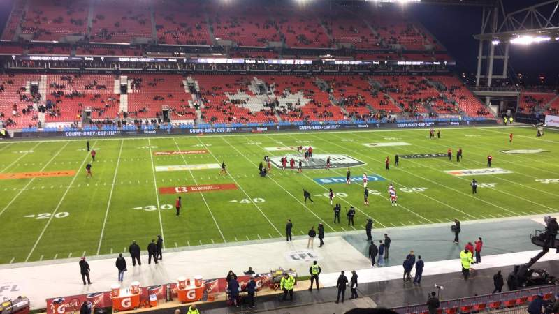 Seating view for BMO Field Section 225 Row 4 Seat 10