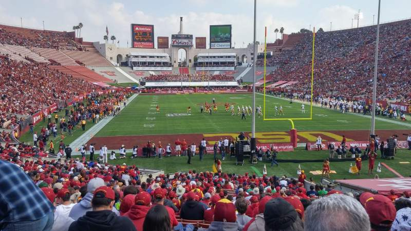 Seating view for Los Angeles Memorial Coliseum Section 115 Row 30 Seat 13