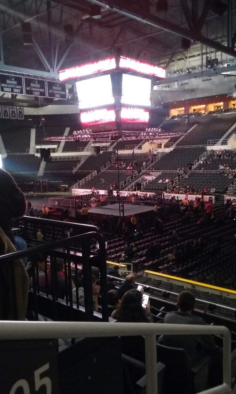 Seating view for Dunkin' Donuts Center Section 105 Row H Seat 13