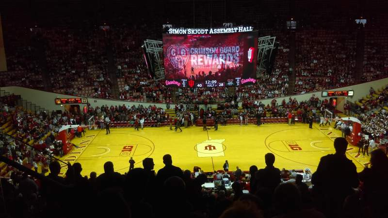 Seating view for Assembly Hall (Bloomington) Section D Row 29 Seat 4