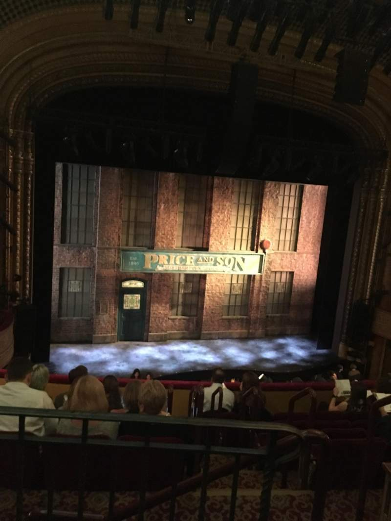 Seating view for Al Hirschfeld Theatre Section Mezzanine Row H Seat 1