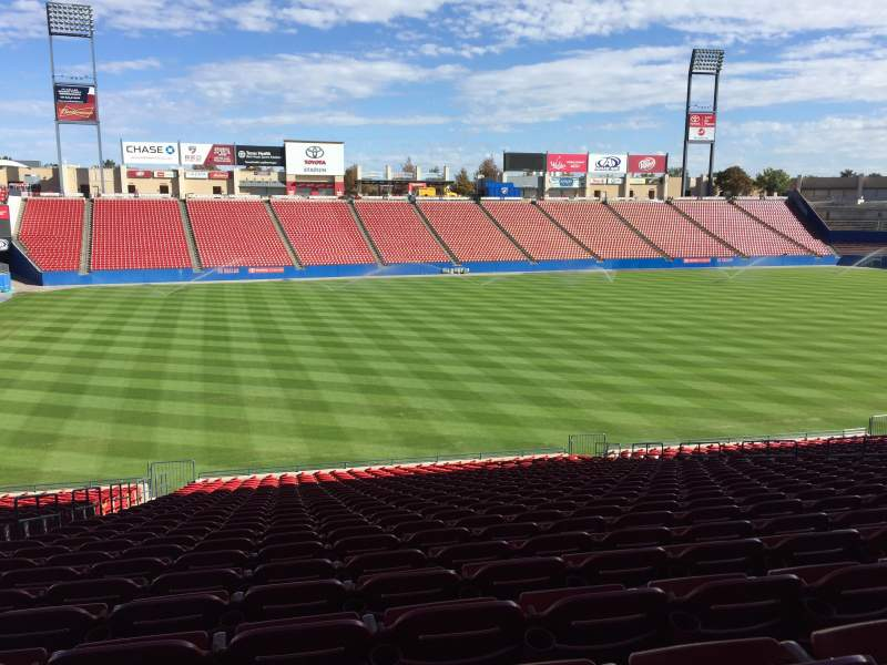 Seating view for Toyota Stadium Section 102 Row 26 Seat 3