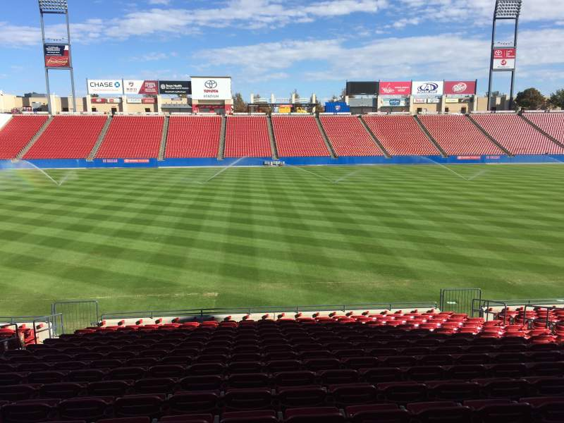 Seating view for Toyota Stadium Section 105 Row 17 Seat 11