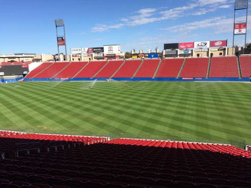 Seating view for Toyota Stadium Section 109 Row 28 Seat 13