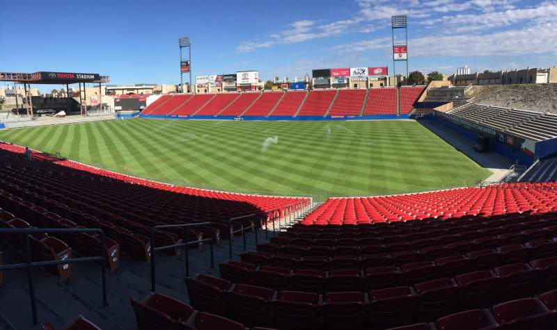 Seating view for Toyota Stadium Section 110 Row 29 Seat 19