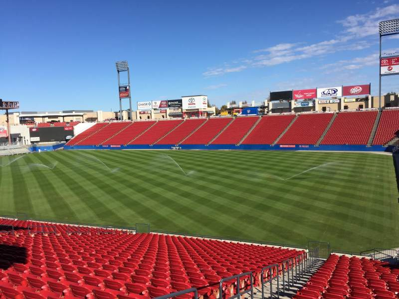 Seating view for Toyota Stadium Section 111 Row 29 Seat 1