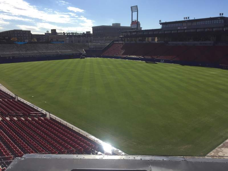 Seating view for Toyota Stadium Section Toyota Terrace Row 1