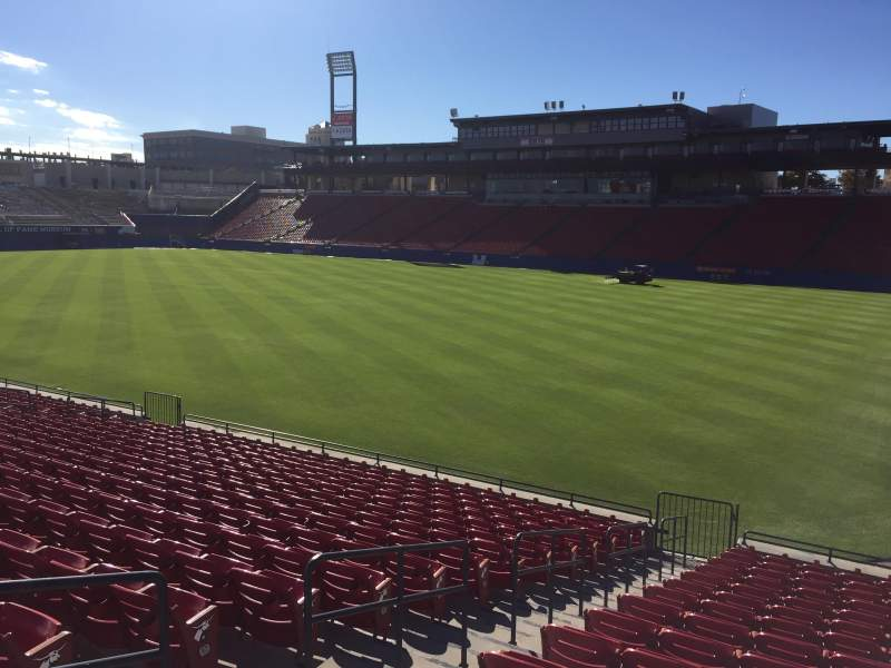 Seating view for Toyota Stadium Section 132 Row 16 Seat 4
