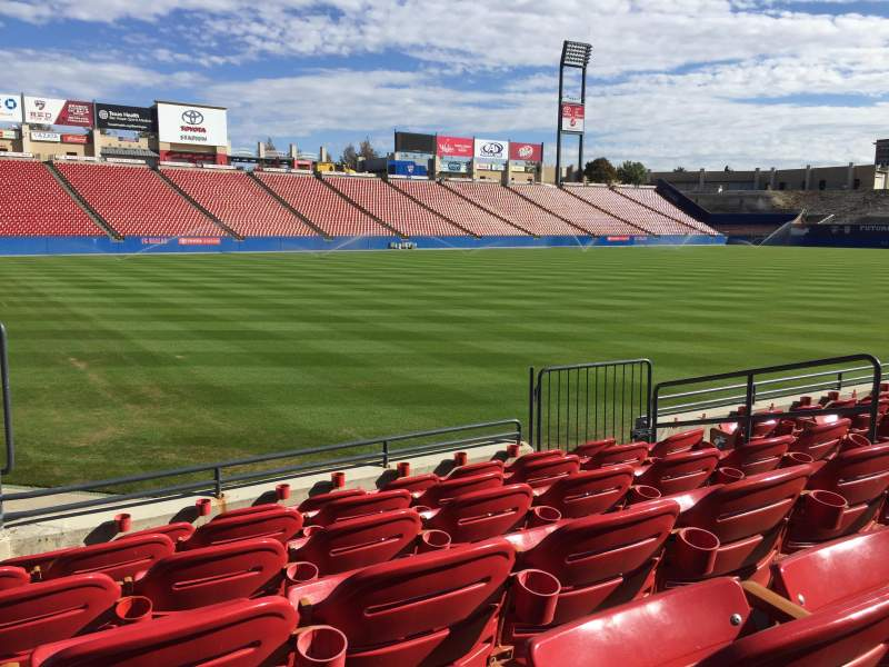 Seating view for Toyota Stadium Section 101 Row 6 Seat 8