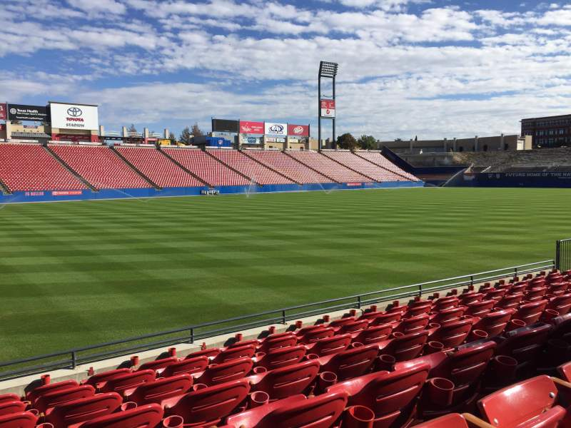 Seating view for Toyota Stadium Section 102 Row 7 Seat 2