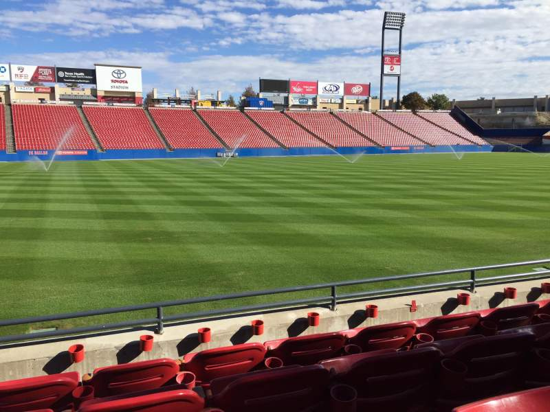 Seating view for Toyota Stadium Section 103 Row 4 Seat 15
