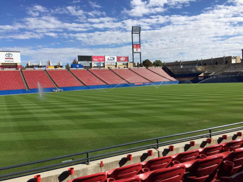 Seating view for Toyota Stadium Section 104 Row 4 Seat 5