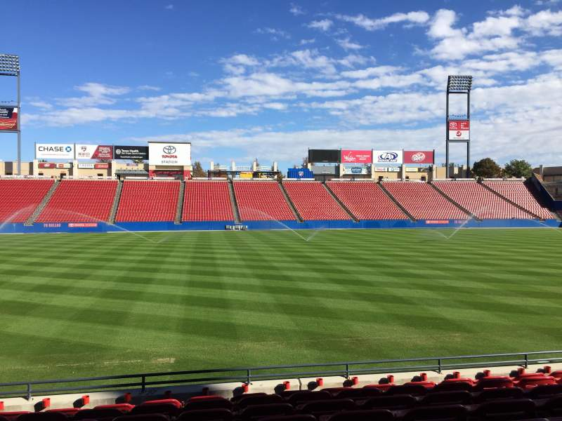 Seating view for Toyota Stadium Section 105 Row 8 Seat 8