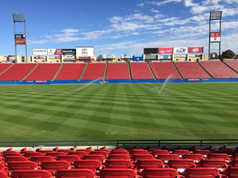 Seating view for Toyota Stadium Section 106 Row 8 Seat 12