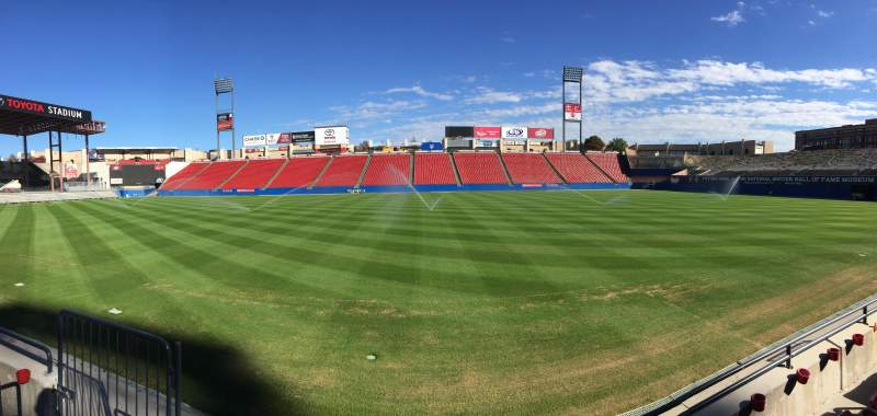 Seating view for Toyota Stadium Section 107 Row 2 Seat 8