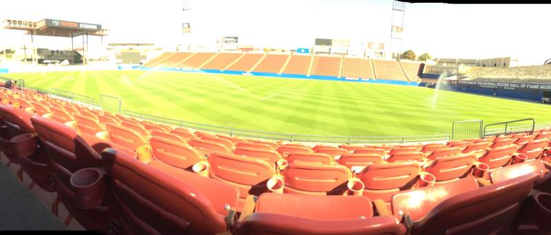 Seating view for Toyota Stadium Section 108 Row 7 Seat 13