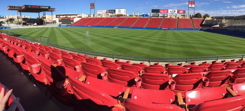 Seating view for Toyota Stadium Section 109 Row 5 Seat 13