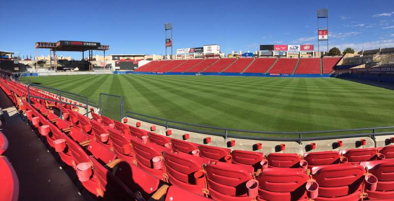 Seating view for Toyota Stadium Section 110 Row 4 Seat 9