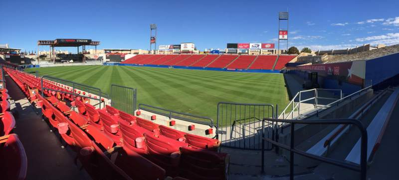 Seating view for Toyota Stadium Section 111 Row 4 Seat 7