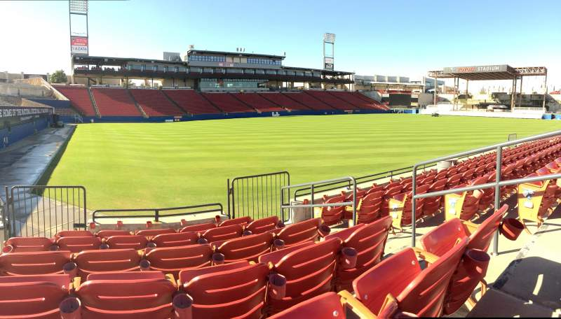 Seating view for Toyota Stadium Section 122 Row 6 Seat 22
