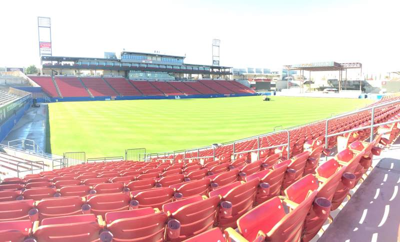 Seating view for Toyota Stadium Section 122 Row 15 Seat 19