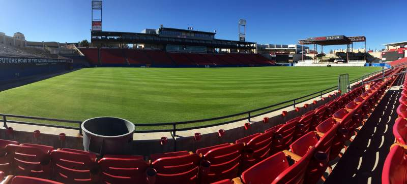 Seating view for Toyota Stadium Section 123 Row 3 Seat 11