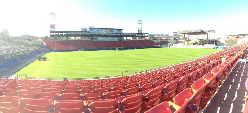 Seating view for Toyota Stadium Section 123 Row 15 Seat 12