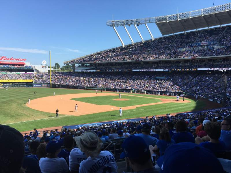 Seating view for Kauffman Stadium Section 215 Row GG Seat 11