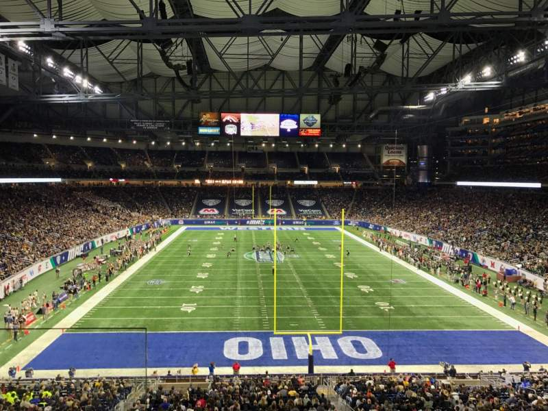 Seating view for Ford Field Section 243 Row 2 Seat 1