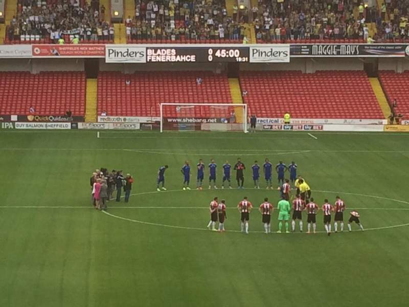 Seating view for Bramall Lane Section E Row PP Seat 87